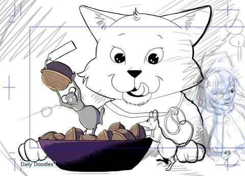In der Entstehung: Mäuseszene