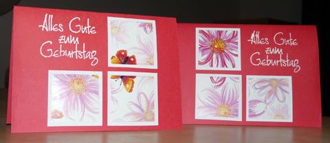 Geburtstagskarten in Rot