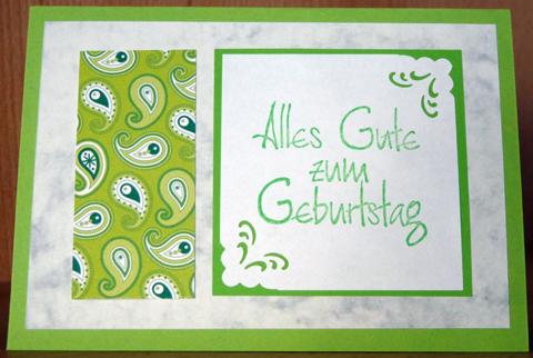 Grüne Geburtstagsgrüße