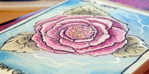 Aquarell: Blume