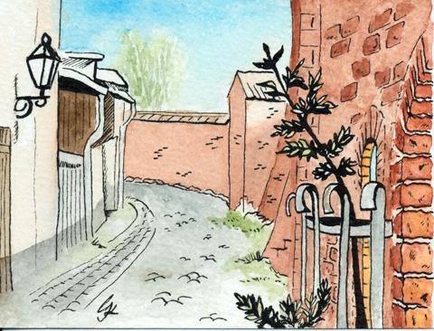 Wittstocker Ansichten 4: An der Brinkmauer