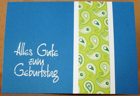 Geburtstagskarte mit Dekopapier