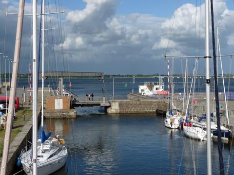 Boote im Hafen von Stralsund