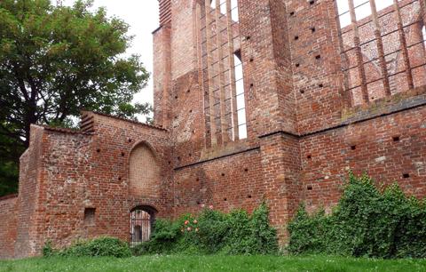 Stralsund: Ruine der Johanneskirche am Johanneskloster