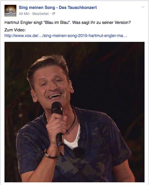 Hartmut Engler von PUR in der 1. Folge des Tauschkonzerts auf VOX