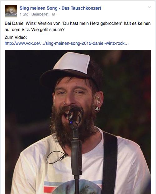 Daniel Wirtz in der ersten Folge des Tauschkonzerts auf VOX