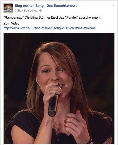 Christina Stürmer in der 1. Folge des Tauschkonzerts auf VOX.