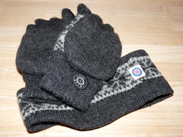 Handschuhe und Stirnband aus Island