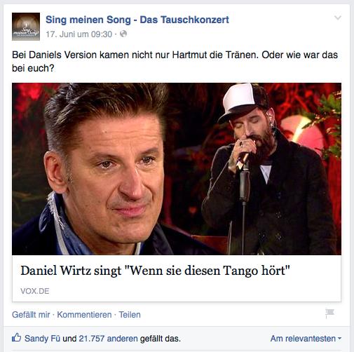 """Daniel Wirtz singt """"Wenn sie diesen Tango hört"""""""