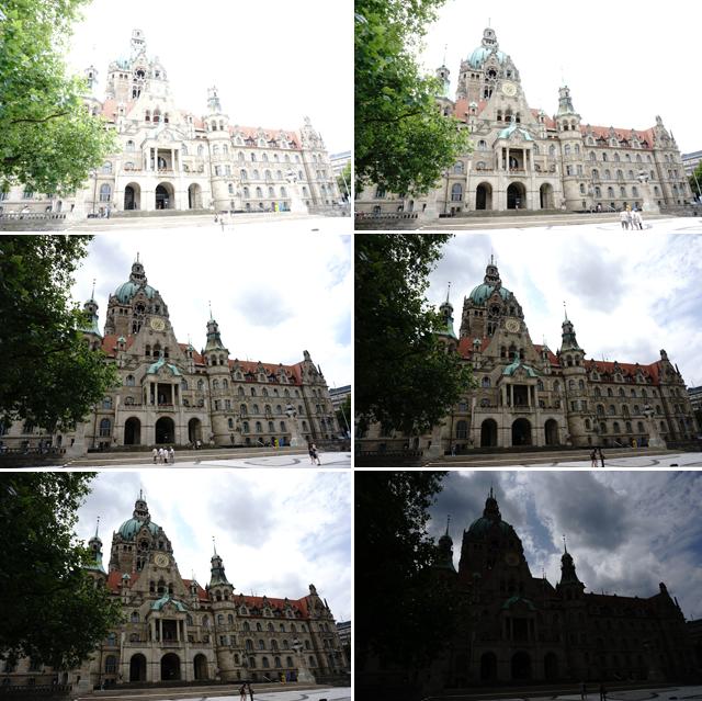 Belichtungsreihe Hannover Rathaus