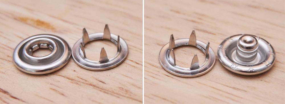 Druckknöpfe Jersey mit Ring