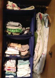 Babyplatz im Kleiderschrank